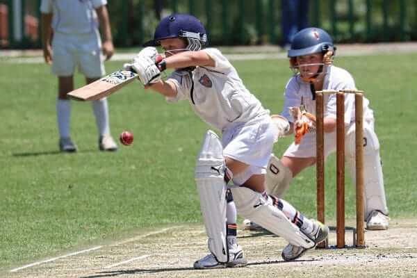 クリケット打者と捕手