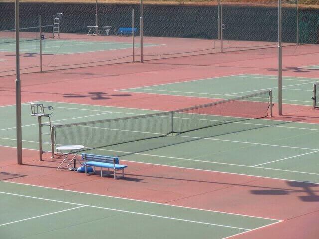 テニスのコートに関する用語