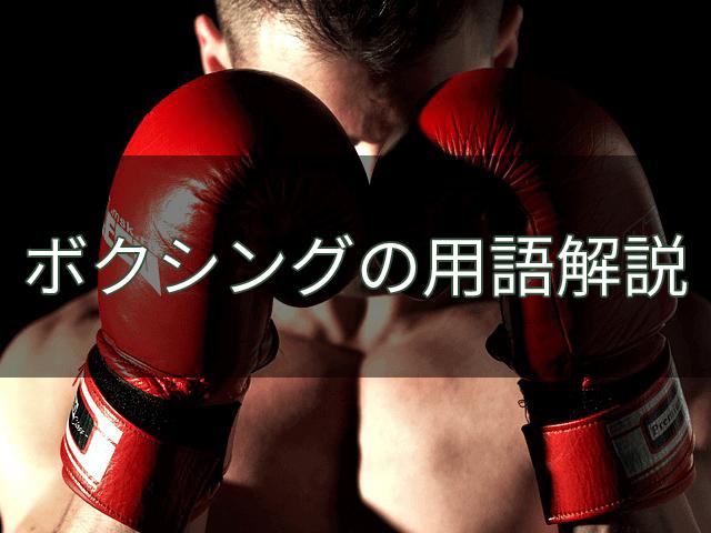 ボクシングの用語解説