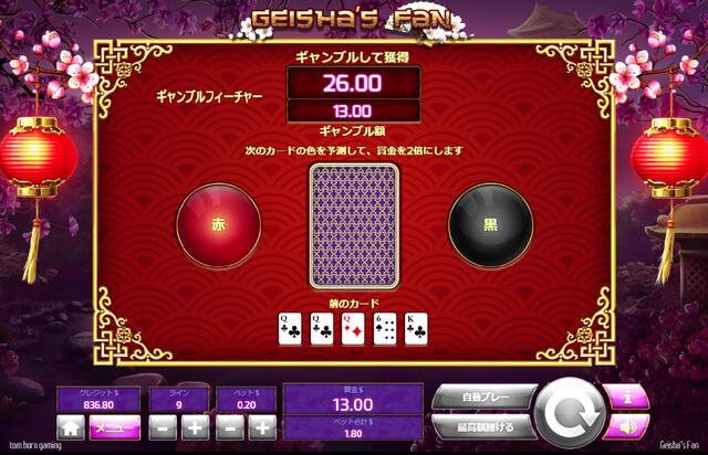 ギャンブル画面